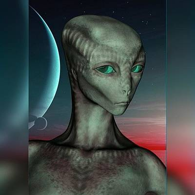 Alien Girl Poster by Viaruss Ut-Gella