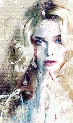 Etude Eliannah En Blanc Poster by Gary Bodnar
