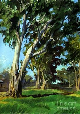Poster featuring the painting Eucalyptuses by Sergey Zhiboedov