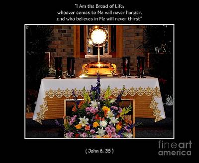 Eucharist I Am The Bread Of Life Poster by Rose Santuci-Sofranko