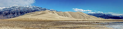 Poster featuring the photograph Eureka Dunes - Death Valley by Peter Tellone
