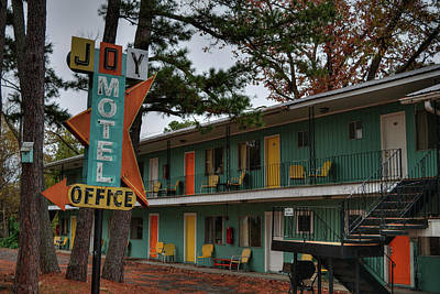 Poster featuring the photograph Eureka Springs - Joy Motel 001 by Lance Vaughn