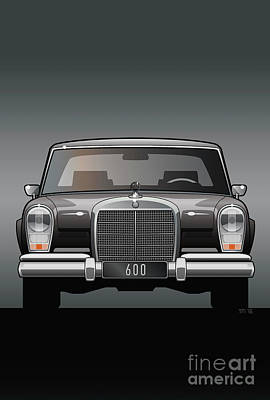 Euro Classic Series Mercedes-benz W100 600 Poster by Monkey Crisis On Mars