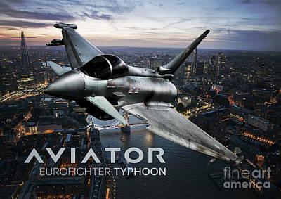 Eurofighter Typhoon Fighter Jet Poster by Fernando Miranda