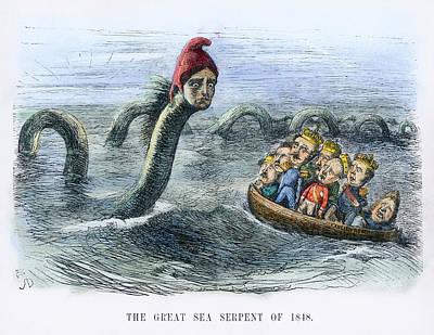 Europe, 1848: Cartoon Poster