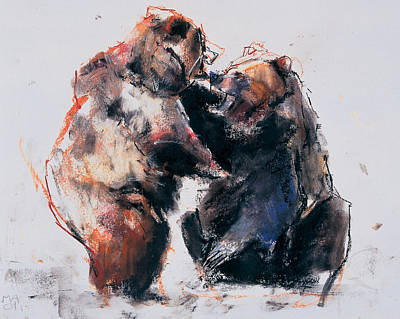 European Brown Bears Poster by Mark Adlington