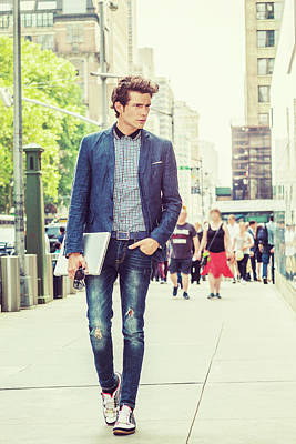 European College Student Studying In New York Poster