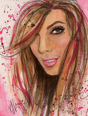 Poster featuring the painting Eva Longoria by P J Lewis
