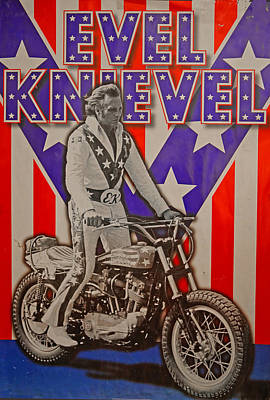 Evel Knievel  A Dare Devil Poster by Jayme Pierce