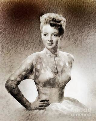 Evelyn Keyes, Vintage Actress By John Springfield Poster