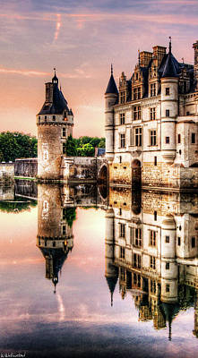 Evening At Chenonceau Castle Poster