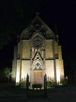 Poster featuring the photograph Evening At Loretto Chapel Santa Fe by Kurt Van Wagner