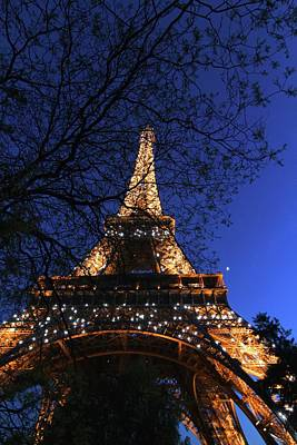 Poster featuring the photograph Evening At The Eiffel Tower by Heidi Hermes