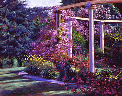 Evening At The Elegant Garden Poster by David Lloyd Glover