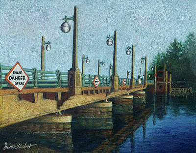 Poster featuring the painting Evening, Bayville Bridge by Susan Herbst