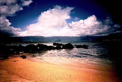 Evening Beach Hawaiian Style Poster by Judyann Matthews