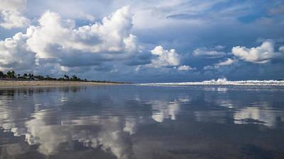 Evening Beach Walk 2 Delray Beach Florida Poster by Lawrence S Richardson Jr