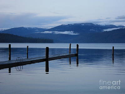 Tranquil Blue Priest Lake Poster