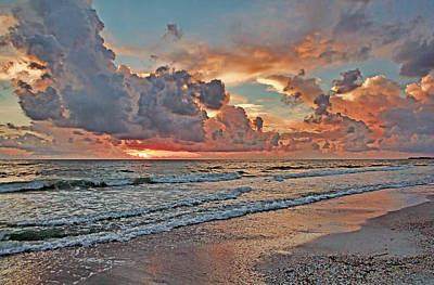 Poster featuring the photograph Evening Clouds by HH Photography of Florida