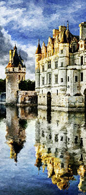 Evening Falls At The Castle Poster