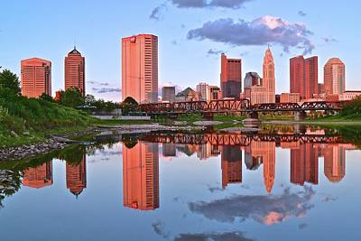 Evening Falls In Columbus Poster by Frozen in Time Fine Art Photography