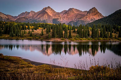 Evening Glow At Molas Lake Poster by Michael J Bauer