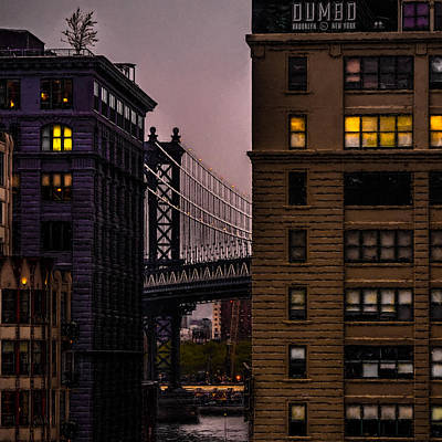Poster featuring the photograph Evening In Dumbo by Chris Lord