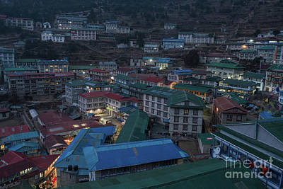 Poster featuring the photograph Evening In Namche Nepal by Mike Reid