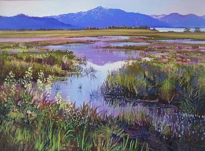 Evening In The Marsh Poster by Bonita Paulis