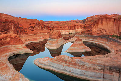 Evening Light In Reflection Canyon. Poster by Johnny Adolphson