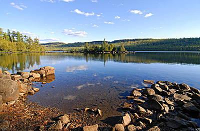 Evening On Cedar Lagoon Pine Lake Poster by Larry Ricker