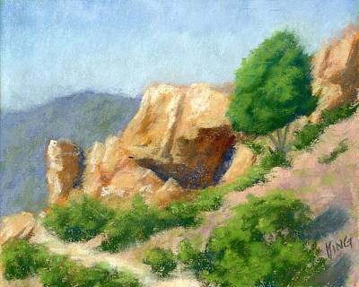 Evening On The Bench Plein Air Poster by David King
