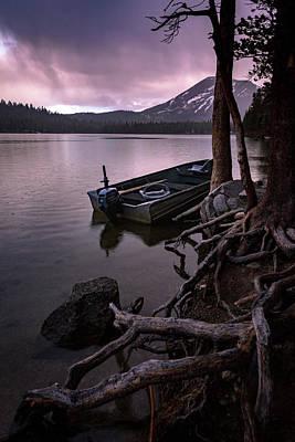Evening Rain At Lake Mary Poster