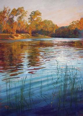 Evening Reflections, Goulburn River Poster by Lynda Robinson