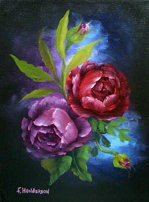 Evening Roses Poster