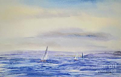 Evening Sail On Little Narragansett Bay Poster by Joan Hartenstein