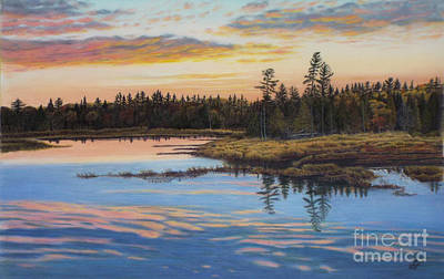 Evening Sigh View From Highway 60 In Algonquin Park Poster