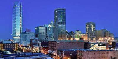 Evening Time In Okc Poster by Frozen in Time Fine Art Photography