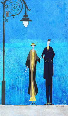 Evening Walk Poster by J Ripley Fagence
