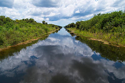 Everglades Canal Poster by Christopher L Thomley