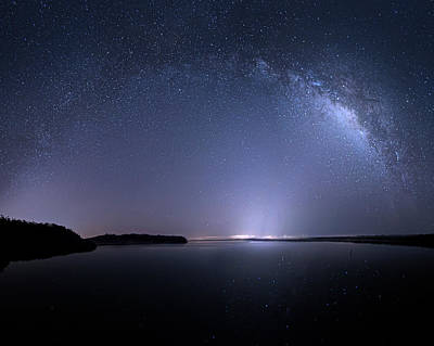 Poster featuring the photograph Everglades National Park Milky Way by Mark Andrew Thomas