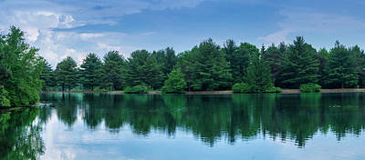 Evergreen Lake Reflections Poster