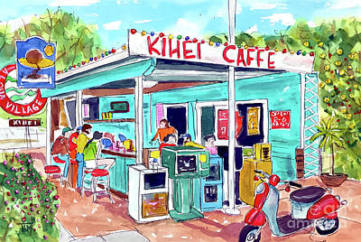 Every Day At Kihei Caffe Poster
