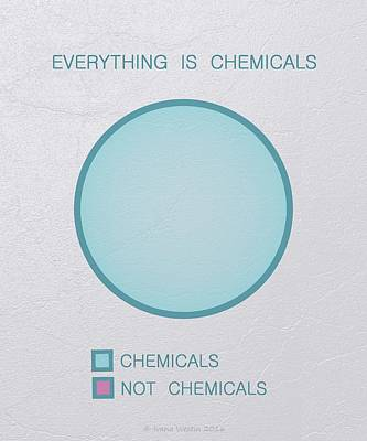 Poster featuring the digital art Everything Is Chemicals by Ivana Westin