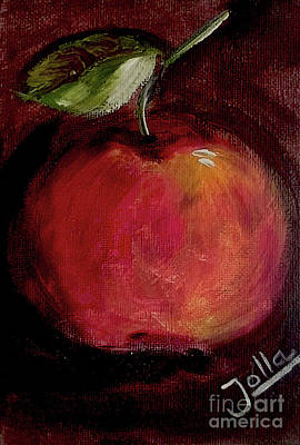 Poster featuring the painting Eve's Apple.. by Jolanta Anna Karolska