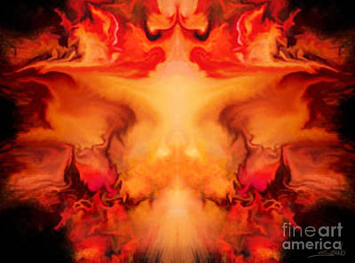 Evil Red Abstract By Spano Poster by Michael Spano