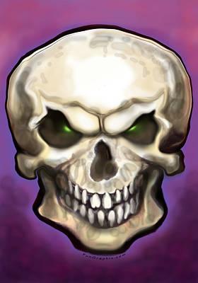 Evil Skull Poster by Kevin Middleton
