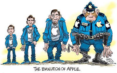 Evolution Of Apple Poster