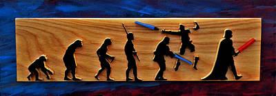 Evolution Of Darth Vader Poster by Michael Bergman