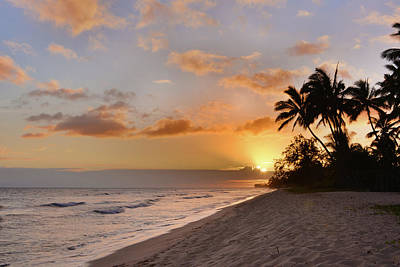 Ewa Beach Sunset - Oahu Hawaii Poster by Brian Harig